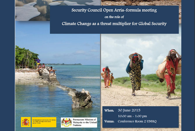 Security Council Open Arria-formula meeting on the role of Climate Change as a threat multiplier for Global Security