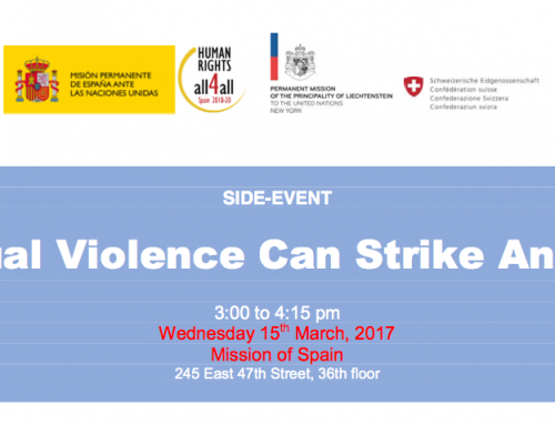 "Side-Event ""Sexual Violence can strike Anyone"" postponed"