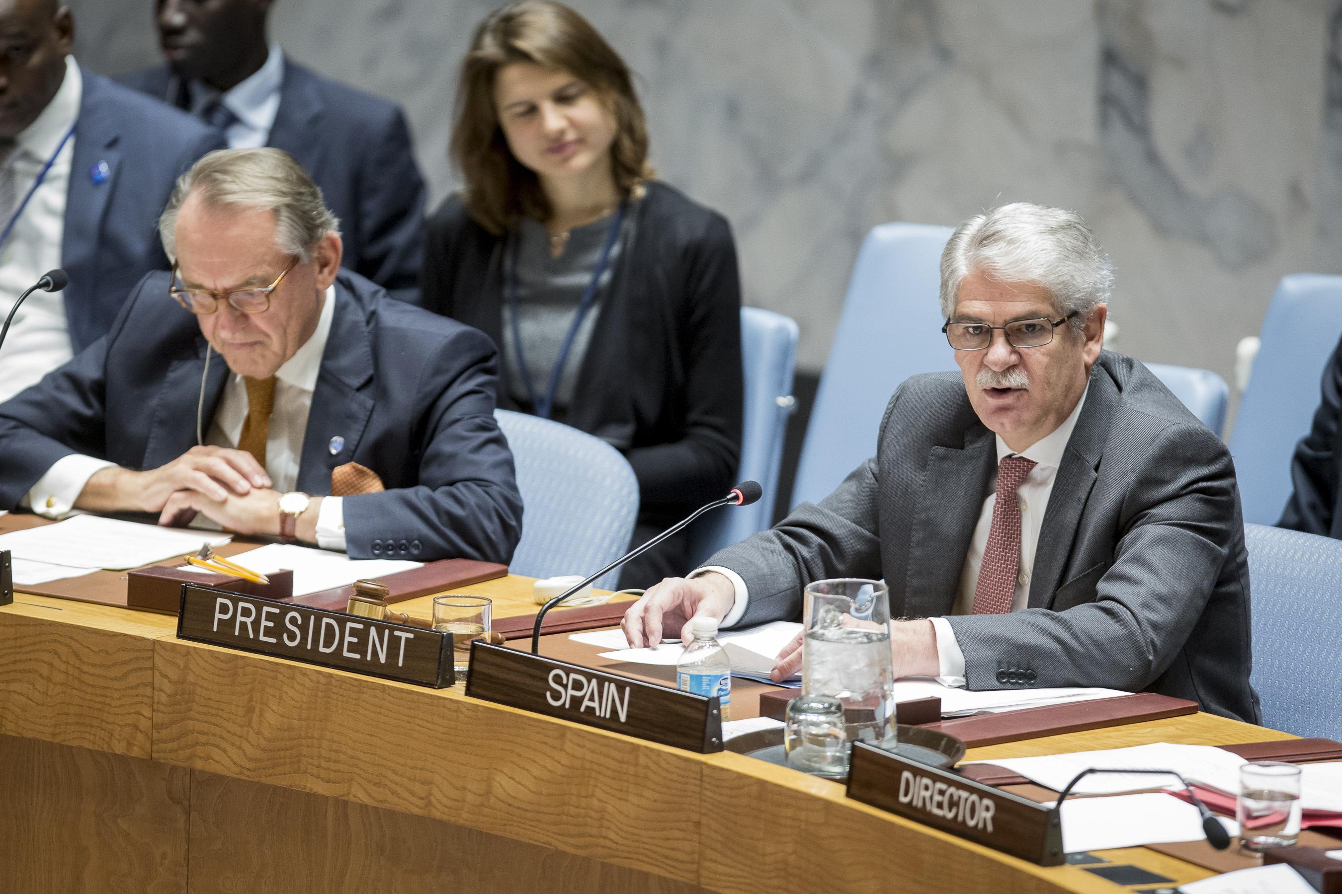 Intervención del ministro de Asuntos Exteriores en debate del CS sobre No Proliferación de Armas de Destrucción Masiva