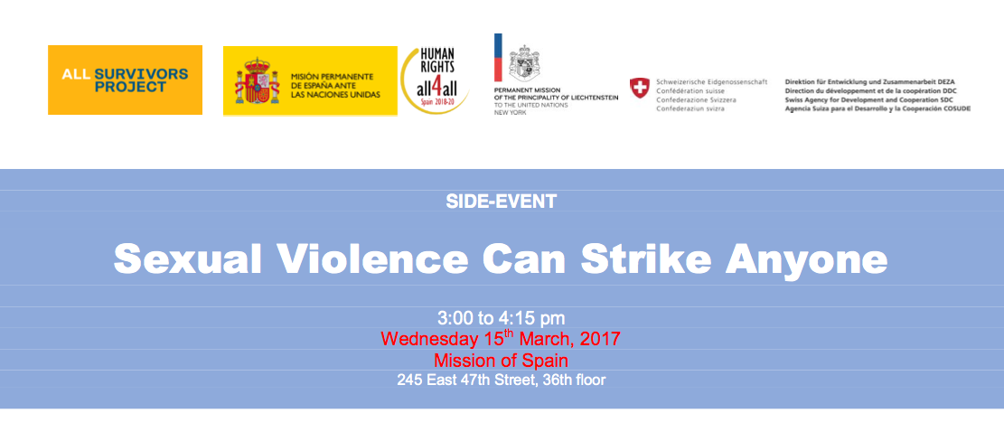 """Side-Event """"Sexual Violence can strike Anyone"""" postponed"""