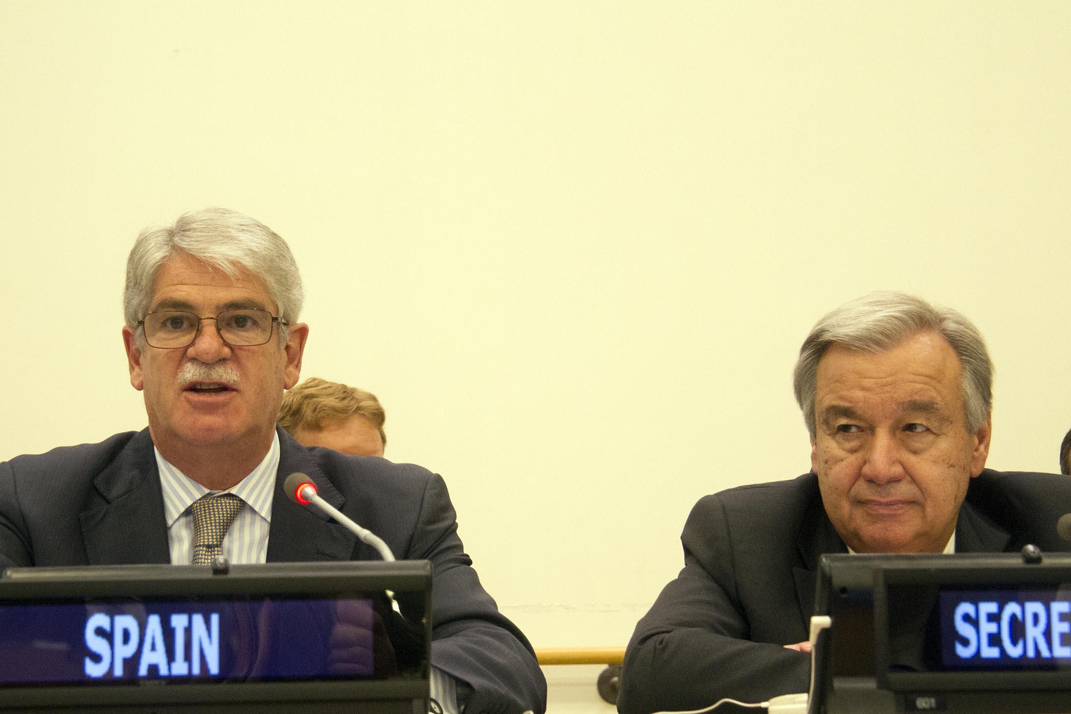 """El ministro de Asuntos Exteriores interviene en la reunión sobre """"El papel de los líderes religiosos en la construcción de la paz en Oriente Medio"""""""
